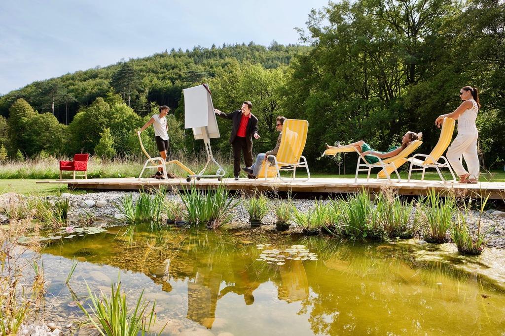 3 Krainerhütte Flipchart am Teich